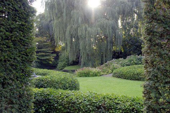 Een tuin is een spel van ruimte en volumes van structuur en natuur - Tuin hellende ...